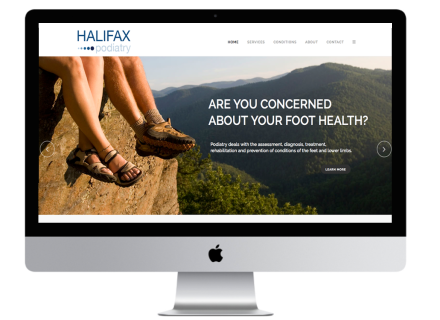 Halifax Podiatry Website - Windrose Web Design