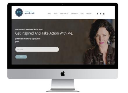 Mary Lou MacDonald Website - Windrose Web Design
