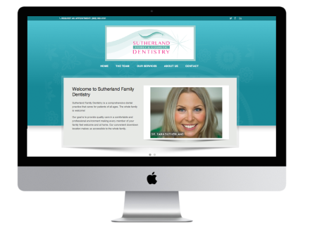 Sutherland Family Dentistry - Windrose Web Design