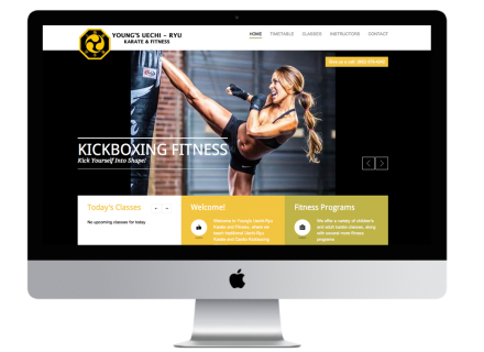 Youngs Uechi - Rhu Karate Website - Windrose Web Design