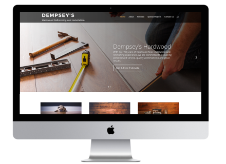 Windrose Web Design - Dempsey's Hardwood